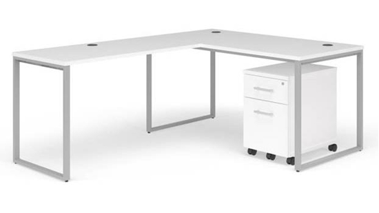 """Picture of OFM Fulcrum FC007 60""""W  L-Shaped Desk with Mobile Pedestal"""
