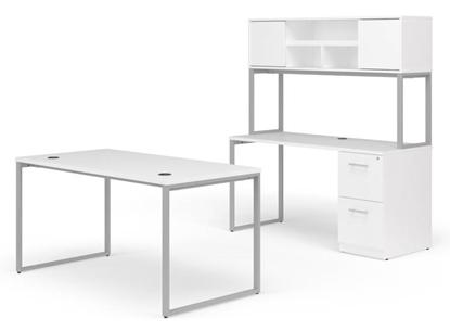 "Picture of OFM Fulcrum FC011 66""W Executive Desk & Credenza"