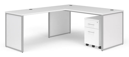 "Picture of OFM Fulcrum FC018 72""W L-Shaped Desk with End Panels"