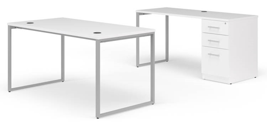 "Picture of OFM Fulcrum FC023 66""W Desk and Credenza"