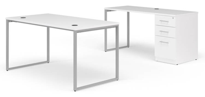 "Picture of OFM Fulcrum FC024 72""W Desk and Credenza"