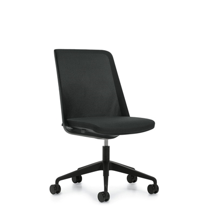 Picture of Global 8458NA Prefer Mesh Back Chair with No Arms, Black Frame, & Black Base