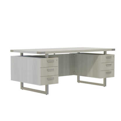 Picture of Mirella MRDBB6630 Double Pedestal Desk with Box Drawers