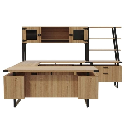 Picture of Mirella MR1 U-Shaped Desk with Hutch and Lateral File