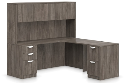 Picture of Offices to Go SL7136CER-SL3624R L Shaped Desk with Hutch