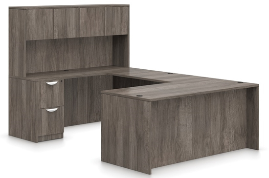 Picture of Offices to Go SL7136DS U Shaped Desk with Hutch
