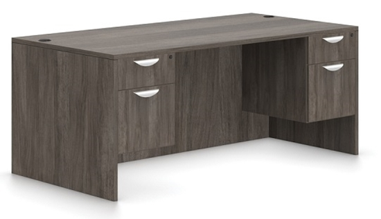 Picture of Offices to Go SL7136DS-SL22HBF Office Desk w/ Hanging Files
