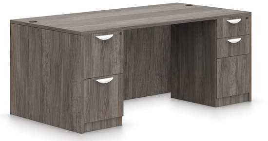 "Picture of Offices to Go SL6630DS 66"" Executive Desk"