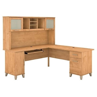 Picture of Bush WC81410-11 L Shaped Desk with Hutch