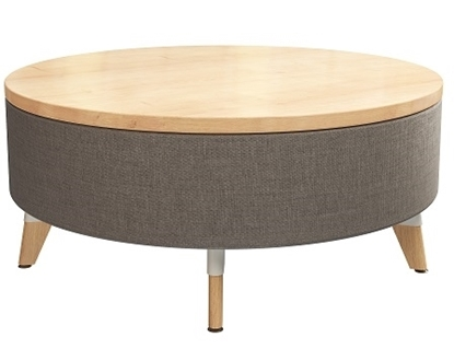 Picture of Resi 1719 Upholstered Ottoman with Wood Top