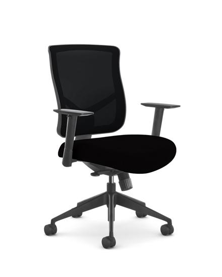Picture of OFS Bolero 607-CR11-BST1 Synchro Tilt Mesh Office Chair