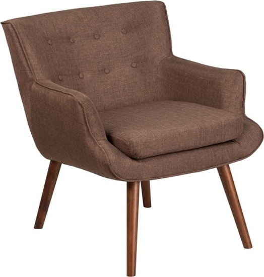 Picture of HERCULES Hayes Series QY-B84 Fabric Tufted Arm Chair