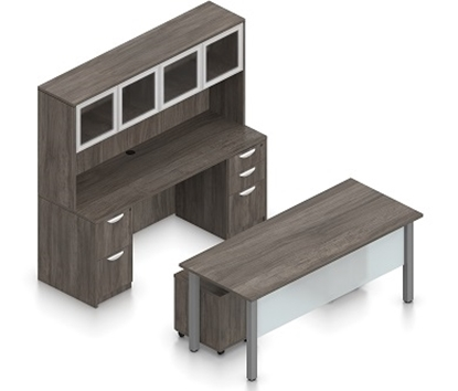 Picture of Offices to Go SL-2 Executive Table Desk Layout
