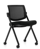 Picture of Offices to Go OTG11341B Armless Mesh Back Flip Seat Nesting Chair