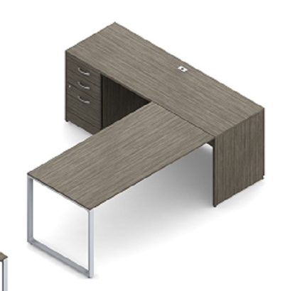 Picture of Global Layout 4A L Shaped Desk