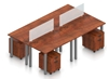 Picture of Offices to Go SL-5 Four Unit Table Desk Layout