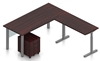 Picture of Offices to Go SL-4 L Shaped Desk w/ Height Adjustable Return