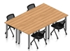 Picture of Offices to Go SL-9 Four Training Tables w/ Chairs