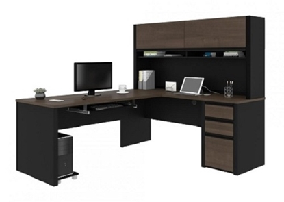 Picture of Bestar 93859 L Shaped Desk with Hutch