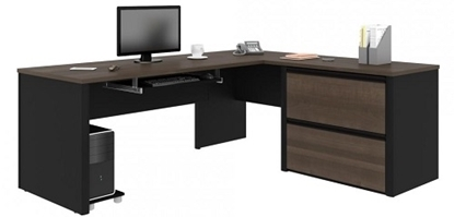 Picture of Bestar 93862 L Shaped Desk with Drawers