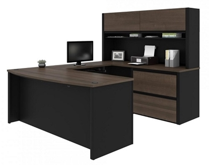 Picture of Bestar 93863 U Shaped Desk with Hutch
