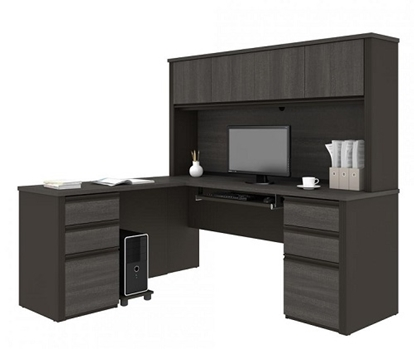 Picture of Bestar 99852 L Shaped  Desk with Hutch