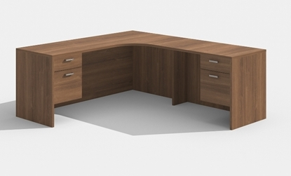 "Picture of Cherryman AM-398 71""W x 66""D L-Shaped Desk with Corner Extension"