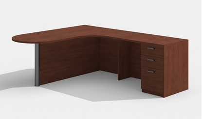 "Picture of Cherryman AM-335 71"" x 77""  L Shaped Office Desk"