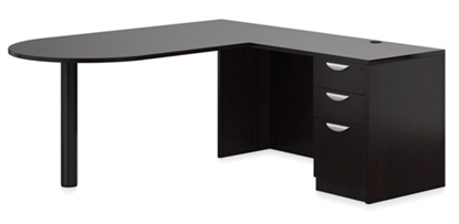 "Picture of Offices to Go SL7136DI 72""W x 78""D L-Shaped D Island Desk"