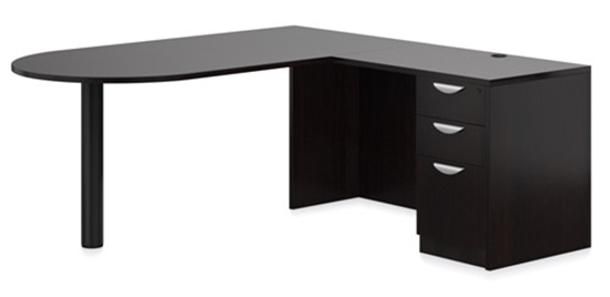"""Picture of Offices to Go SL7136DI 72""""W x 78""""D L-Shaped D Island Desk"""