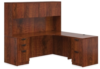 Picture of Offices to Go SL7136CER-SL4224R L Shaped Desk with Hutch