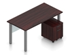 """Picture of Offices to Go SL-1A 71""""W Table Desk w/ Mobile Pedestal"""