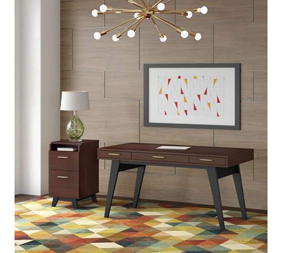 """Picture of Centura CTR001 60"""" Writing Desk with 2 Drawer File Cabinet"""