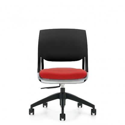 Picture of Global Novello 6401 Armless Polymer Back Office Chair