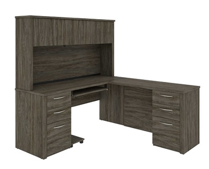 Picture of Bestar 60853 L Shaped Desk with Hutch