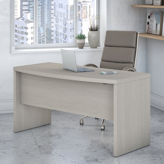 """Picture of Office by kathy ireland® Echo KI60205-03 60"""" Bow Front Desk"""