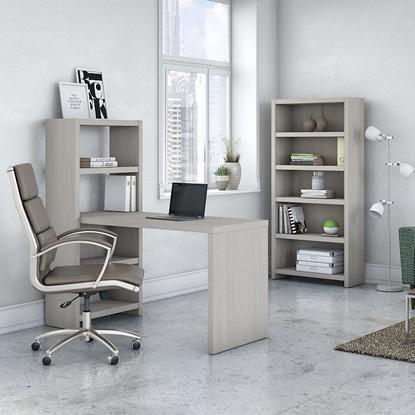 Picture of Office by kathy ireland® Echo ECH020 Bookcase Desk + 5 Shelf Bookcase