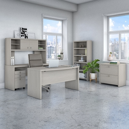 Picture of Office by kathy ireland® Echo ECH029 Bow Front Desk Package
