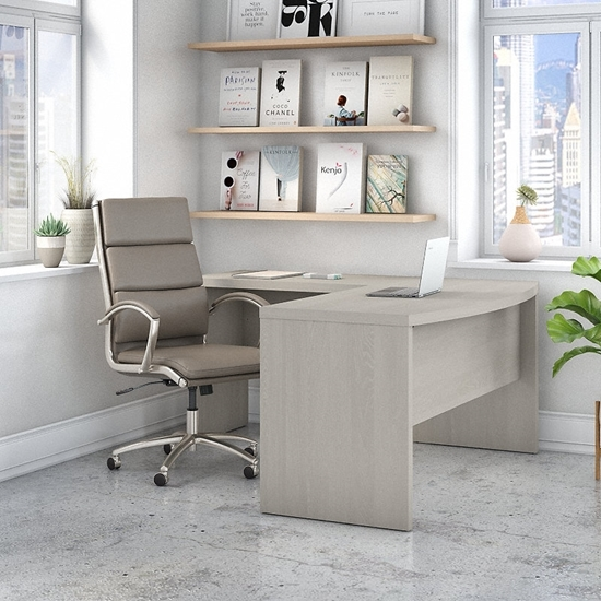 Picture of Office by kathy ireland® Echo ECH025 L-Shaped Bow Front Desk