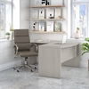Picture of Office by kathy ireland® Echo ECH034 L-Shaped Bow Front Desk w/ Chair