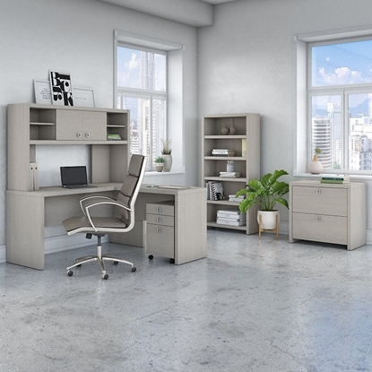 Picture of Office by kathy ireland® Echo ECH028 L-Shaped Desk Package