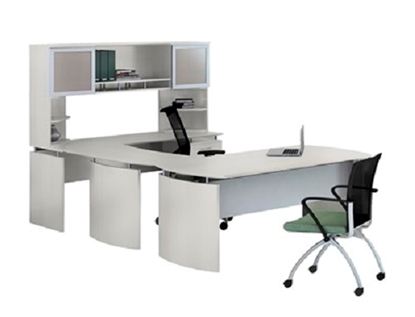 Picture of Safco MNT33/34 U-Shaped Desk with Hutch