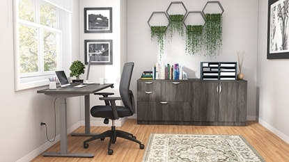 Picture of Offices to Go SL-13 Height Adjustable Desk & Credenza Package