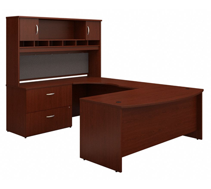 Picture of Bush SRC005 U Shaped Desk with Hutch