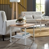Picture of 161-ST210 Industrial Modern Wood Top/Metal Frame Side Table