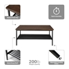 Picture of 161-CT210 Modern Wood Top/Metal Frame Coffee Table with Metal Shelf