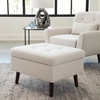 Picture of 161-OTT2 FM 161 Collection Mid Century Modern Tufted Fabric Storage Ottoman