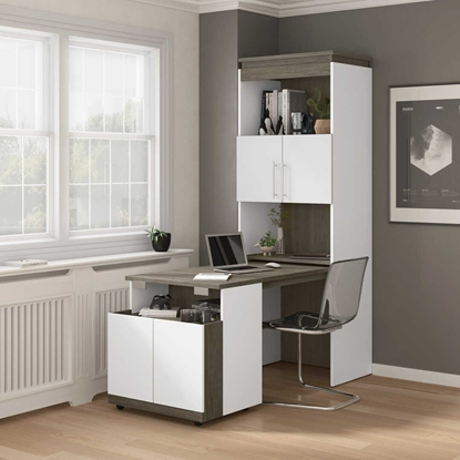 Picture of Bestar 116166 Shelving Unit w/ Fold out Desk