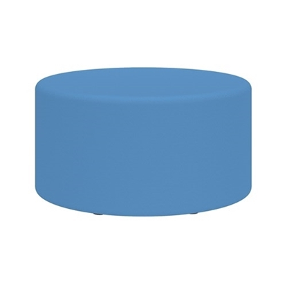 """Picture of Learn 8123 30"""" Cylinder Vinyl Ottoman"""