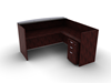Picture of Offices to Go SL7130RDSNT L Shaped Reception Desk w/ Mobile Ped & Glass Top